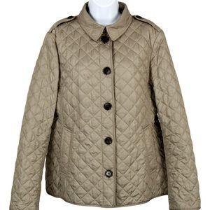 Burberry Brit Ashurst Quilted Jacket Coat Beige